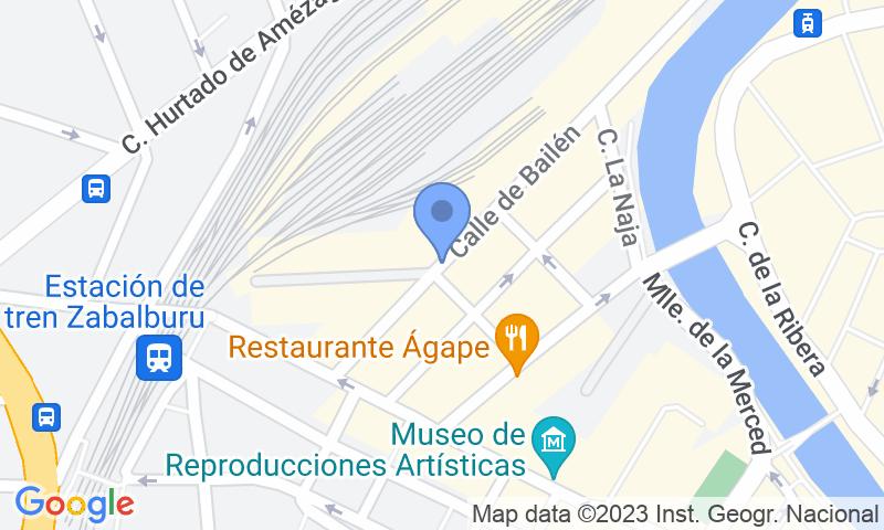 Localizzazione del parcheggio sulla mappa - Prenota un posto nel parcheggio SABA ADIF Estación Bilbao Renfe