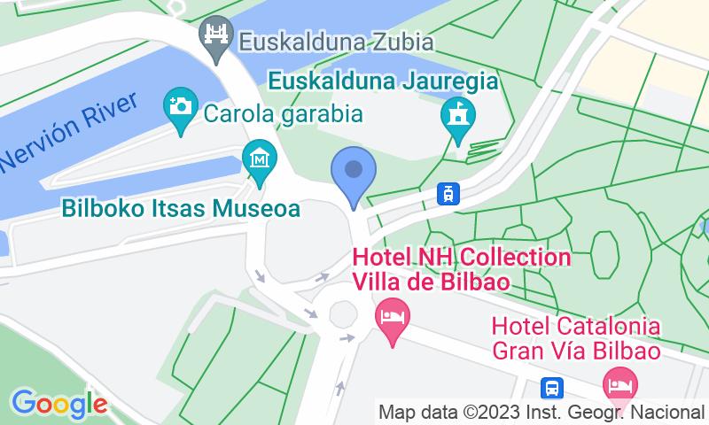 Emplacement du parking sur la carte - Réservez une place dans le parking Palacio Euskalduna