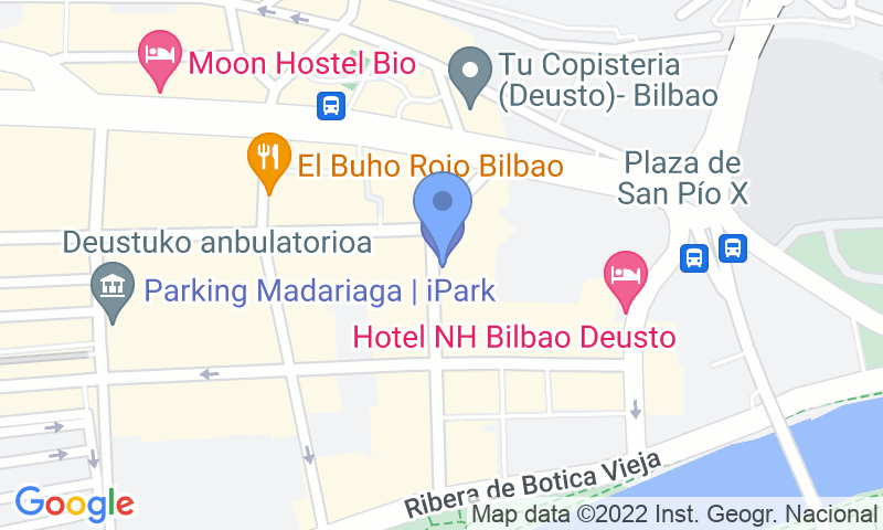 Parking location in the map - Book a parking spot in Madariaga - Deusto car park