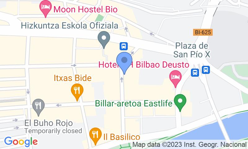 Localizzazione del parcheggio sulla mappa - Prenota un posto nel parcheggio Madariaga - Deusto