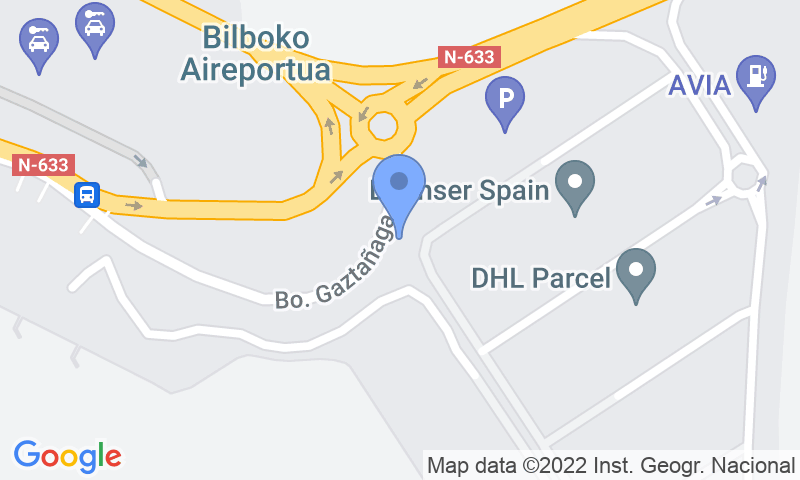 Parking location in the map - Book a parking spot in AENA Larga Estancia P2 Bilbao car park