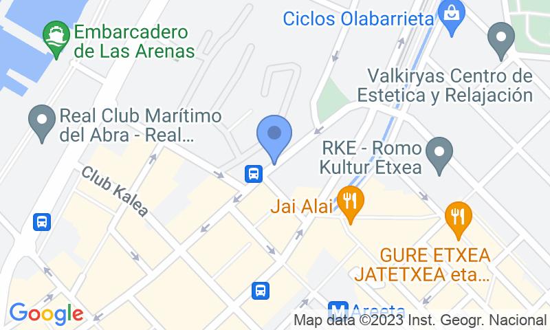 Localització del parking al mapa - Reservar una plaça al parking SABA Las Mercedes