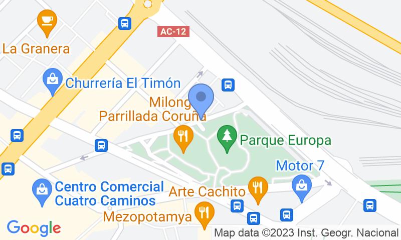 Localizzazione del parcheggio sulla mappa - Prenota un posto nel parcheggio APK2 Parque Europa