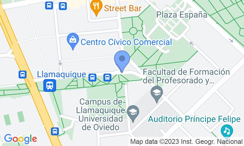 Localizzazione del parcheggio sulla mappa - Prenota un posto nel parcheggio Llamaquique - Centro
