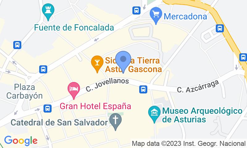 Localizzazione del parcheggio sulla mappa - Prenota un posto nel parcheggio Jovellanos