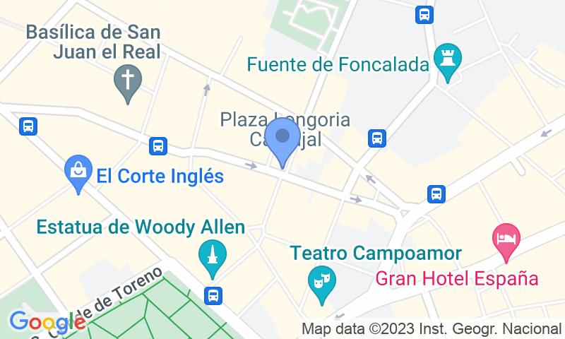Localització del parking al mapa - Reservar una plaça al parking APK2 Plaza Longoria Carbajal