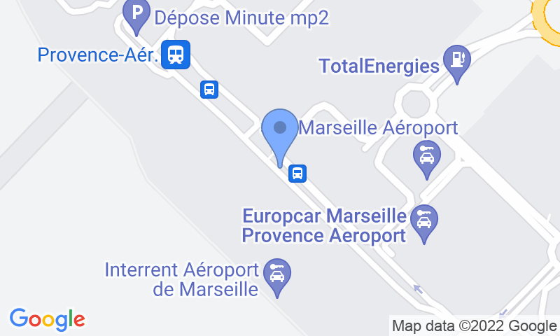 Parking location in the map - Book a parking spot in My Valet services 2.0 Aéroport de Marseille car park