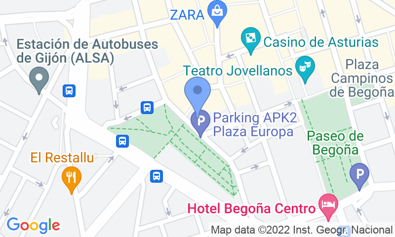 Parking location in the map - Book a parking spot in APK2 Plaza de Europa car park
