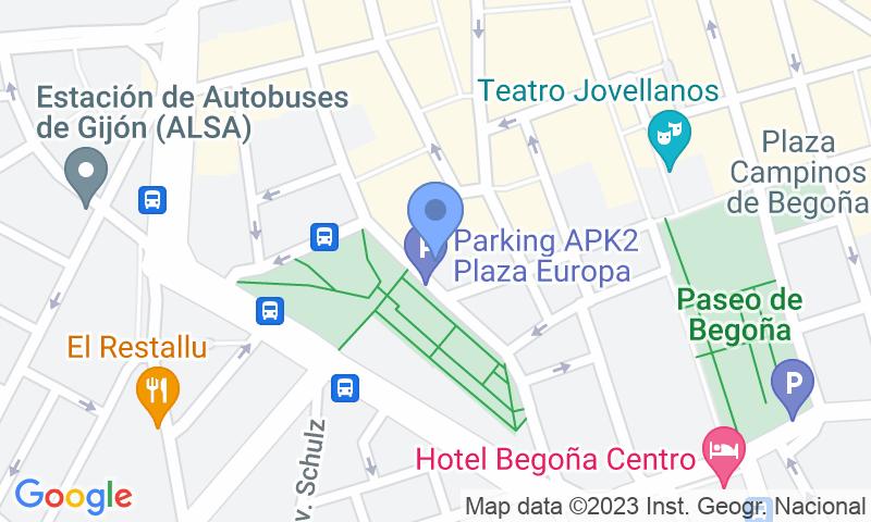 Localizzazione del parcheggio sulla mappa - Prenota un posto nel parcheggio APK2 Plaza de Europa
