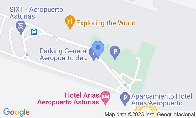 Localizzazione del parcheggio sulla mappa - Prenota un posto nel parcheggio AENA General P1 Asturias