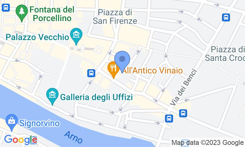 Localització del parking al mapa - Reservar una plaça al parking Garage Palazzo Vecchio