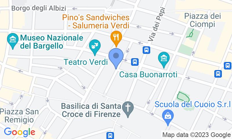 Localización del parking en el mapa - Reservar una plaza en el parking Garage Verdi