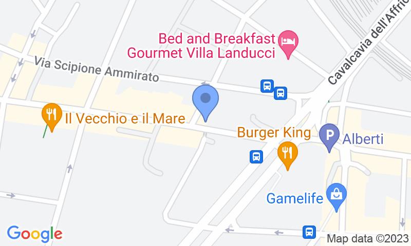 Localización del parking en el mapa - Reservar una plaza en el parking New Garage Gioberti