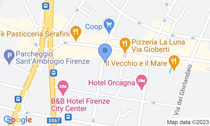 Standort des Parkplatzes auf der Karte - Buch einen Parkplatz im Florence Cimabue Parkplatz.
