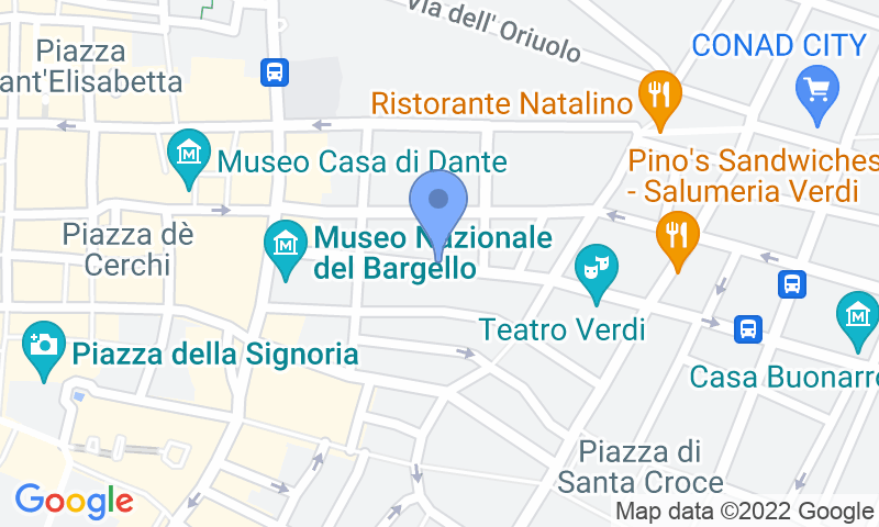 Localizzazione del parcheggio sulla mappa - Prenota un posto nel parcheggio Bargello