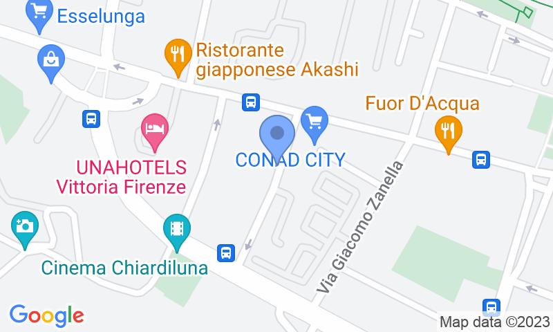 Localización del parking en el mapa - Reservar una plaza en el parking Garage Centrale Gozzoli - Firenze