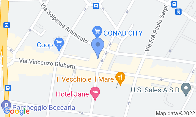 Parking location in the map - Book a parking spot in Florence Capo di Mondo car park