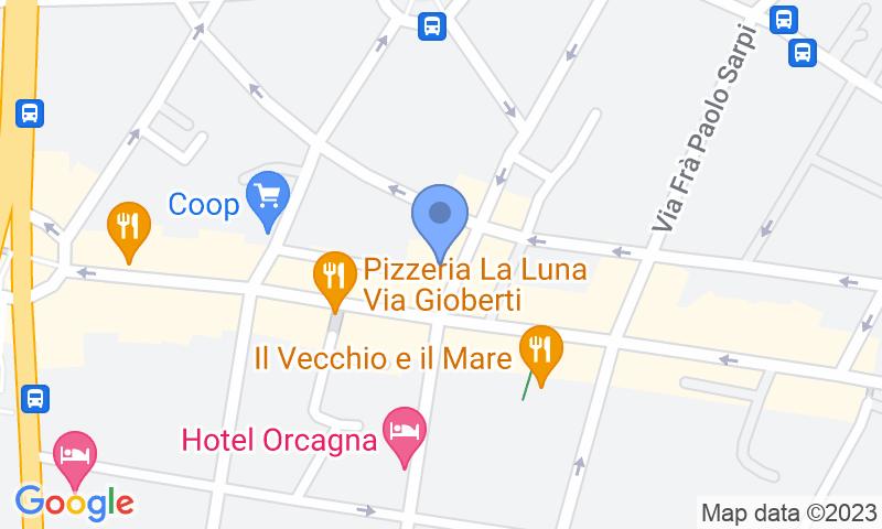 Standort des Parkplatzes auf der Karte - Buch einen Parkplatz im Florence Capo di Mondo Parkplatz.