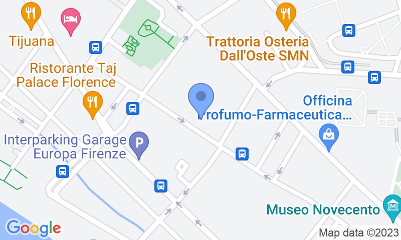 Standort des Parkplatzes auf der Karte - Buch einen Parkplatz im Florence Parking New Excelsior Parkplatz.
