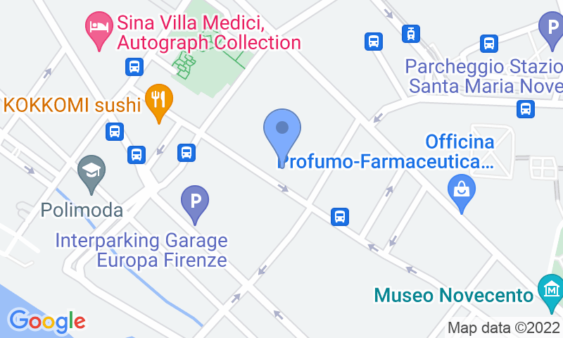 Parking location in the map - Book a parking spot in Florence Parking New Excelsior car park