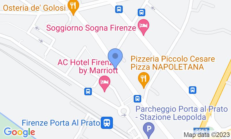 Расположение парковки на карте - Забронируйте паркоместо на стоянке Garage Florentia