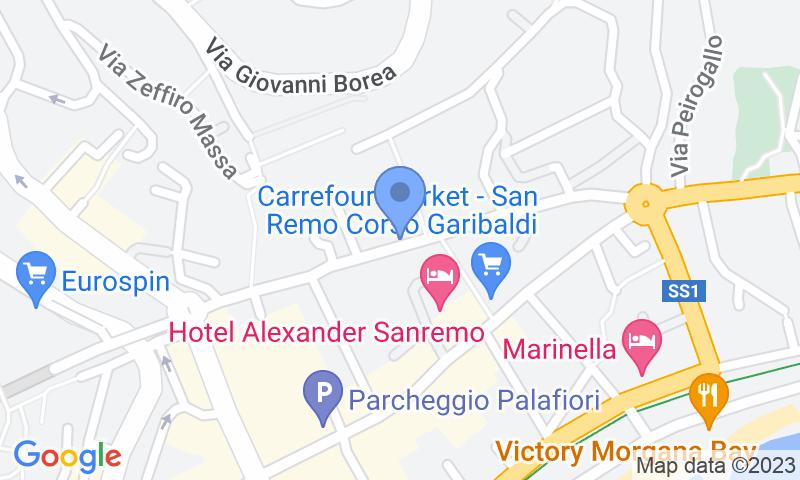 Localizzazione del parcheggio sulla mappa - Prenota un posto nel parcheggio Autosilo Sanremo