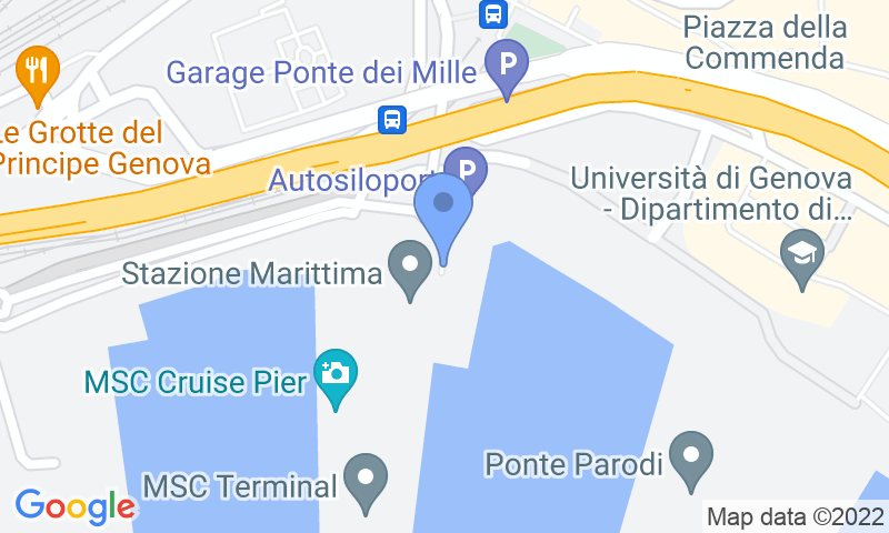 Parking location in the map - Book a parking spot in MSC Crociera Garage Ponte dei Mille car park