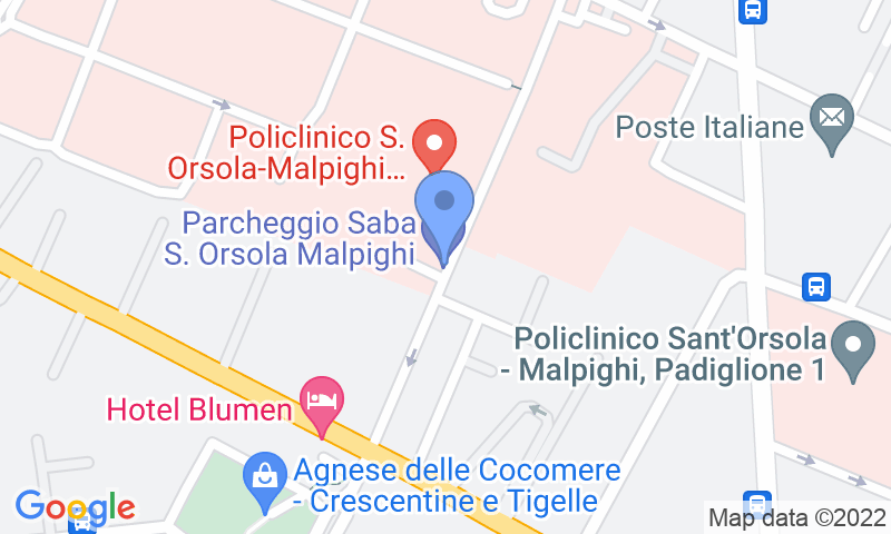 Parking location in the map - Book a parking spot in SABA Bologna - Santa Orsola car park