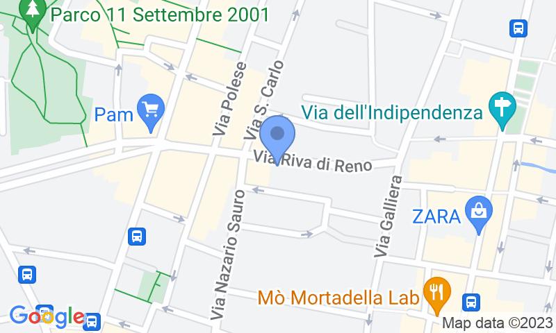Localización del parking en el mapa - Reservar una plaza en el parking Garage Bologna