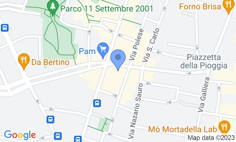 Localización del parking en el mapa - Reservar una plaza en el parking Garage Marconi