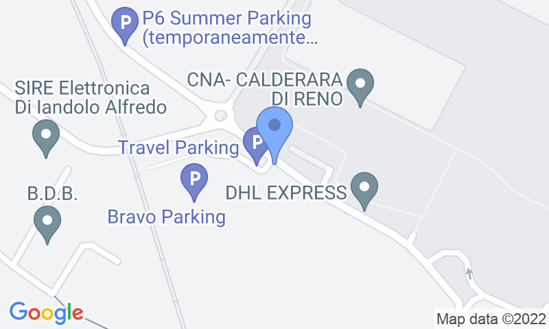 Localizzazione del parcheggio sulla mappa - Prenota un posto nel parcheggio Travel Parking Bologna Scoperto