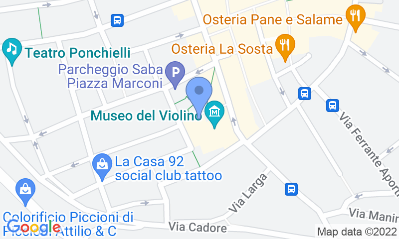 Parking location in the map - Book a parking spot in Saba Cremona-Piazza Marconi car park