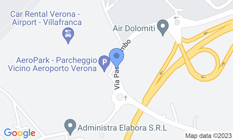 Localizzazione del parcheggio sulla mappa - Prenota un posto nel parcheggio AeroPark Verona - Scoperto