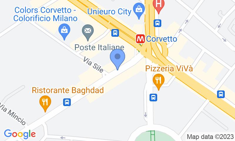 Localització del parking al mapa - Reservar una plaça al parking ParkingCar Corvetto