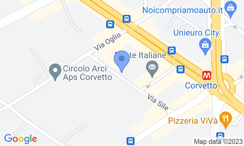 Localización del parking en el mapa - Reservar una plaza en el parking Sile Parking