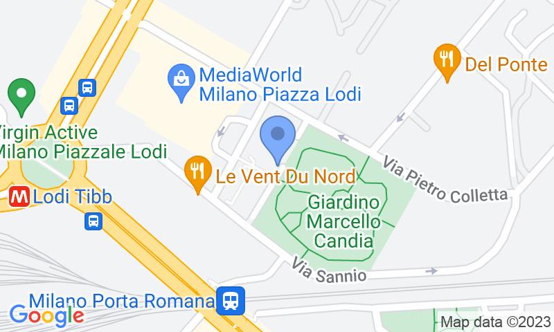 Localizzazione del parcheggio sulla mappa - Prenota un posto nel parcheggio Quick Lodi Milano