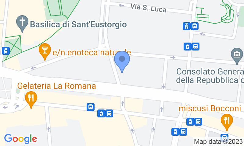Localizzazione del parcheggio sulla mappa - Prenota un posto nel parcheggio Garage Giangaleazzo