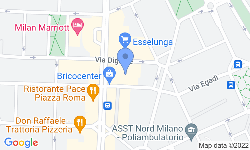Emplacement du parking sur la carte - Réservez une place dans le parking Quick Washington Milano