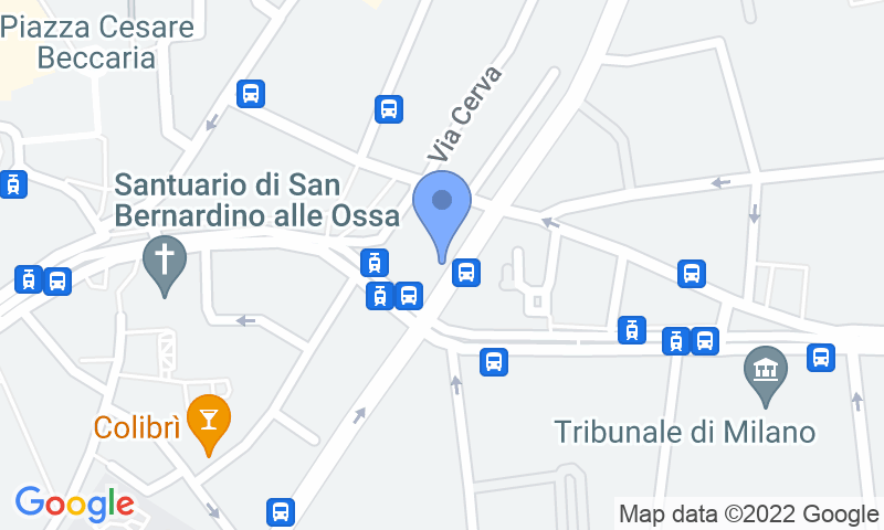 Localización del parking en el mapa - Reservar una plaza en el parking Garage Sforza