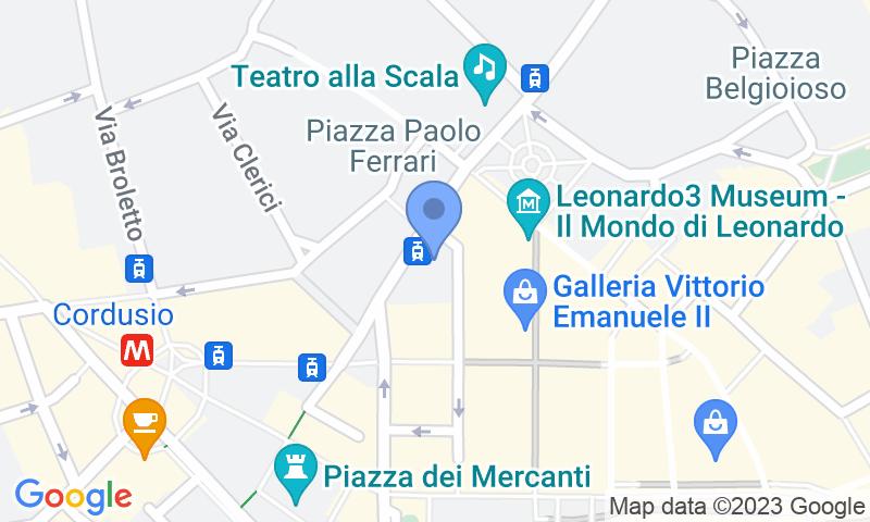 Localització del parking al mapa - Reservar una plaça al parking ParkingCar Silvio Pellico
