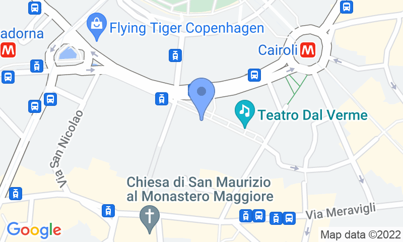 Localizzazione del parcheggio sulla mappa - Prenota un posto nel parcheggio Buonaparte