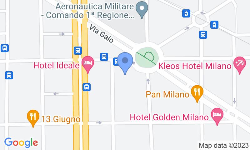 Localización del parking en el mapa - Reservar una plaza en el parking Autorimessa Cesena