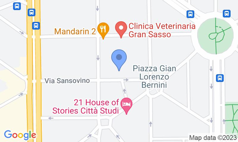 Localización del parking en el mapa - Reservar una plaza en el parking Sansovino Parking