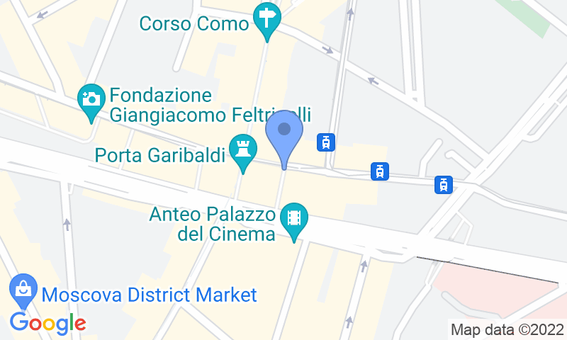 Localizzazione del parcheggio sulla mappa - Prenota un posto nel parcheggio Park 25 - Stazione Garibaldi