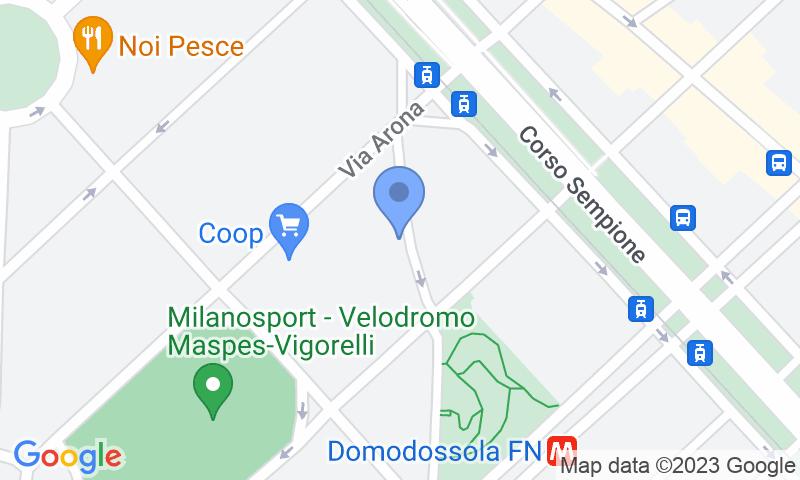 Localizzazione del parcheggio sulla mappa - Prenota un posto nel parcheggio Sempione