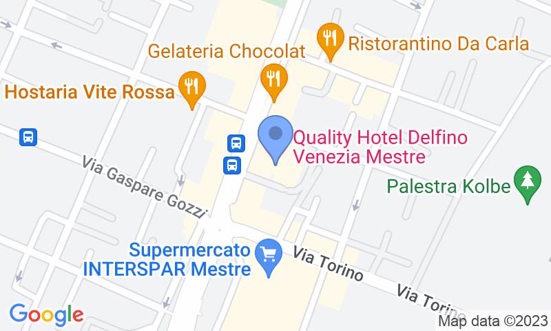 Standort des Parkplatzes auf der Karte - Buch einen Parkplatz im Autorimessa Delfino Parkplatz.