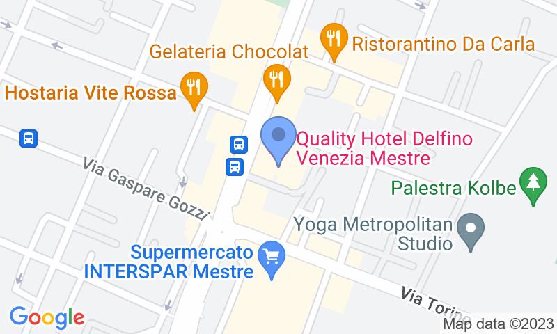 Parking location in the map - Book a parking spot in Autorimessa Delfino car park
