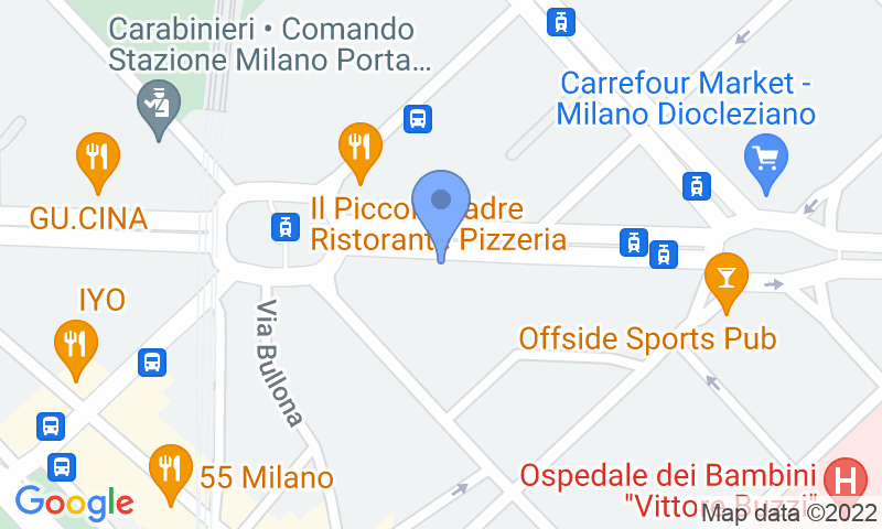 Parking location in the map - Book a parking spot in Cenisio car park
