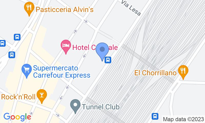 Localizzazione del parcheggio sulla mappa - Prenota un posto nel parcheggio Station Low Cost