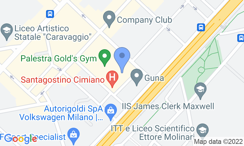 Parking location in the map - Book a parking spot in Quick Palmanova Milano car park